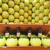 #the #cigar #box #and #the #balls #wall #concept #and #design #by @world.of.gerard.cigars.geneva #switzerland @banque_eric_sturdza_genevaopen @mutuamadridopen  @tc_geneve @karenkhachanov #tennis #on #claycourt #is #comingsoon