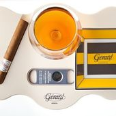 #cigar #tray #for #every #day #a #good #time #with #a #nice #rhum @compagniedesindes #and #small #ashtray @bernardaud #france #made #for @world.of.gerard.cigars.geneva #switzerland #design #by #gerard #geneve